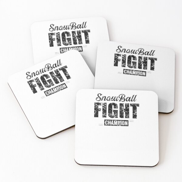 Snowball battle Coasters (Set of 4)