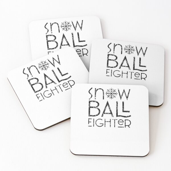 Snow Fight Coasters (Set of 4)
