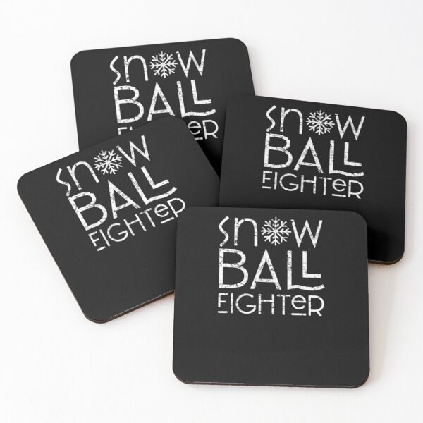 Snowball fight Coasters (Set of 4)