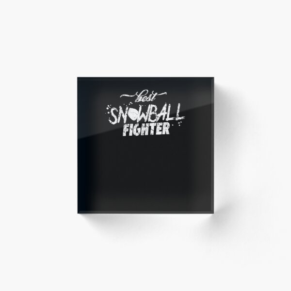 Snowball fight Acrylic Block