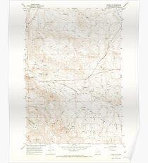 USGS Topo Map Oregon Virtue Flat 281974 1967 24000 Poster