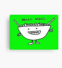 Hello Salad (greeny print) Canvas Print