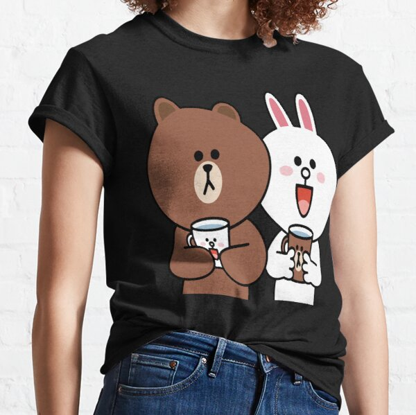Cony Häschenliebhaber des niedlichen Braunbären Classic T-Shirt