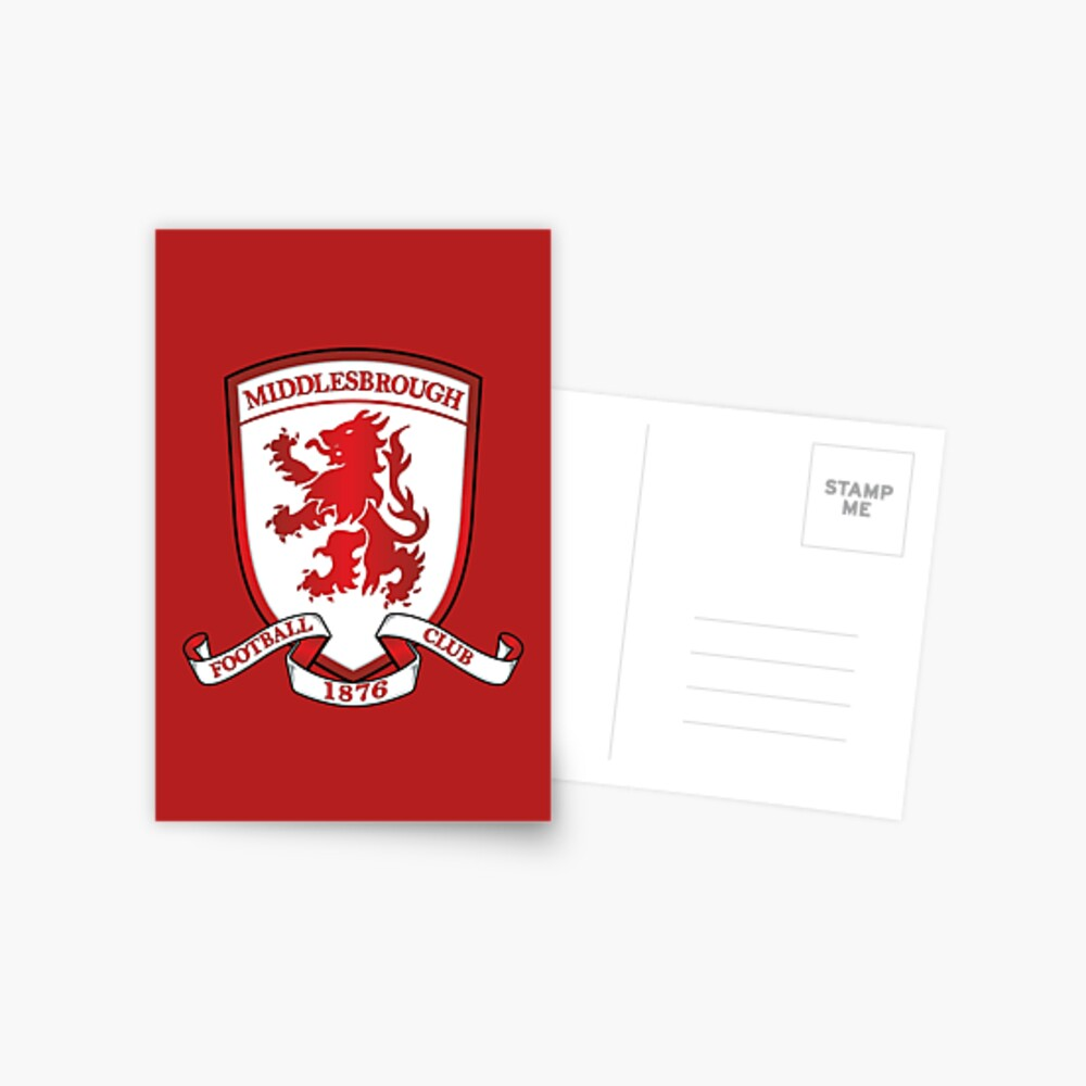 Personalised Greetings Card Middlesbrough F.C CREST