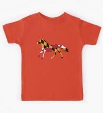 Maryland Flag Pferd Kinder T-Shirt