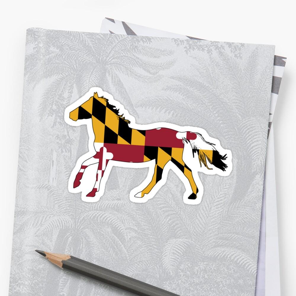 Maryland Flag Horse by welikestuff