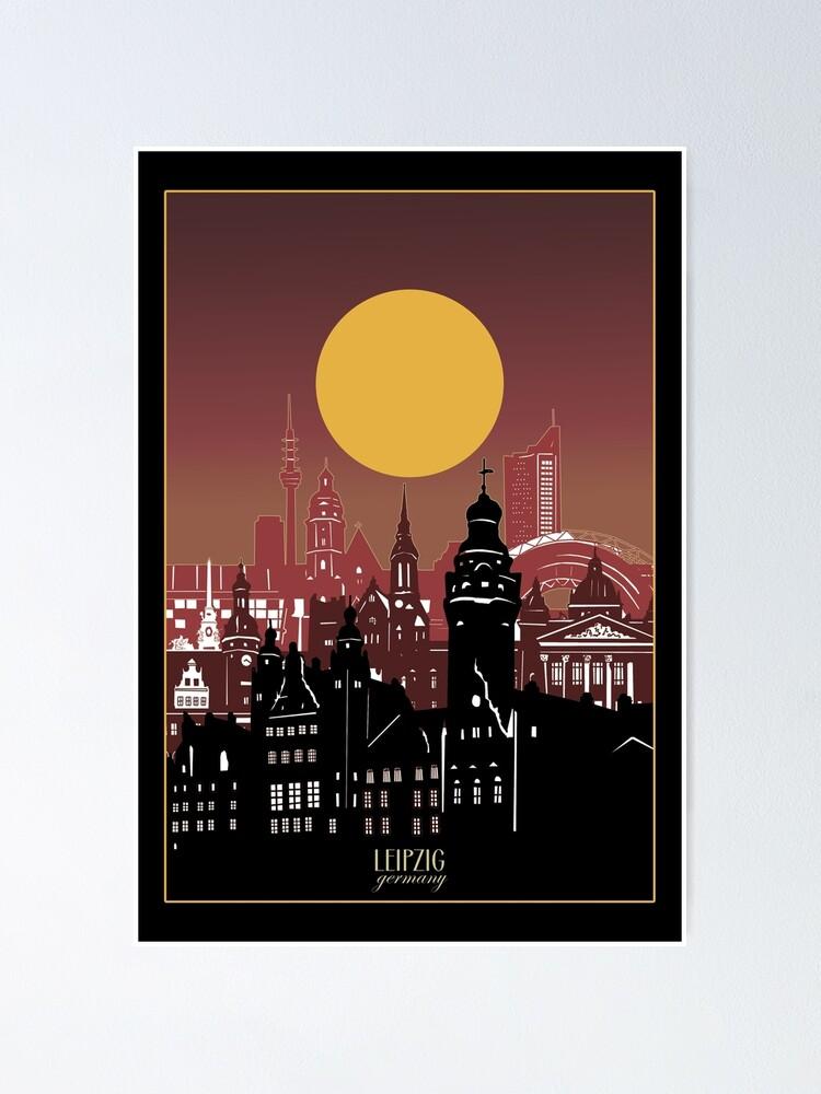 Leipzig Skyline Poster By Bekimart2 Redbubble