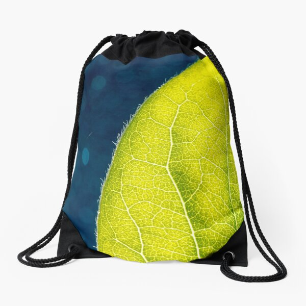Leaf you for a long time Drawstring Bag