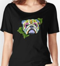 Day of the Dead English Bulldog Sugar Skull Dog Women's Relaxed Fit T-Shirt