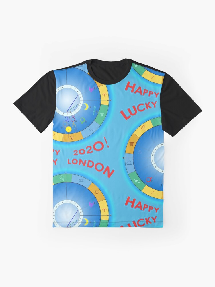Alternate view of HAPPY 2020 LUCKY LONDON! London's Horoscope for 2020 Graphic T-Shirt