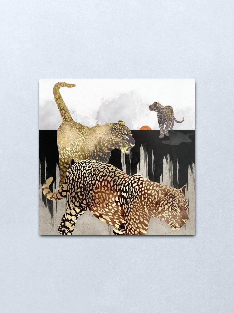Alternate view of Minimal Leopards Metal Print