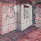 School Building Lobby Interior by Vicki Lau