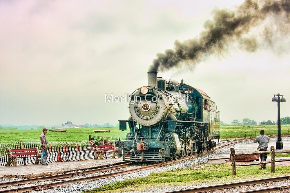 Strasburg Railway - New Track  by Marilyn Cornwell