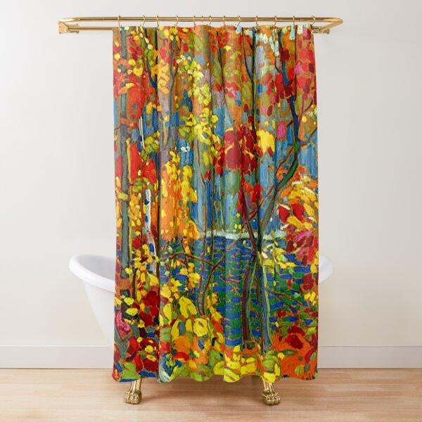 THE POOL : Vintage 1919 Tom Thomson Algonquin Park Art Print Shower Curtain