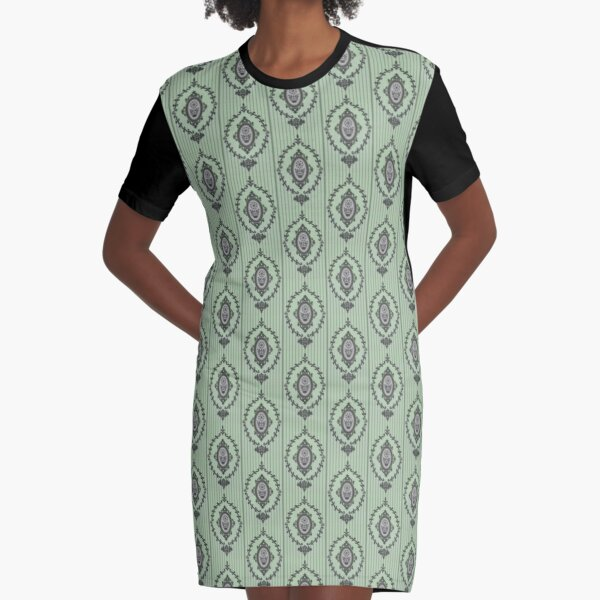 Baroque Wallpaper in Cartoon 1 122019 Graphic T-Shirt Dress