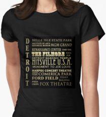 Detroit Michigan Famous Landmarks Women's Fitted T-Shirt