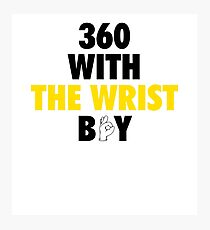 360 With The Wrist Boy | Black & Gold Photographic Print