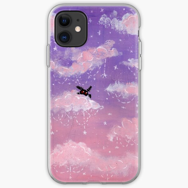Pastel mothman sky  iPhone Soft Case