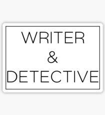 Writer & Detective Sticker