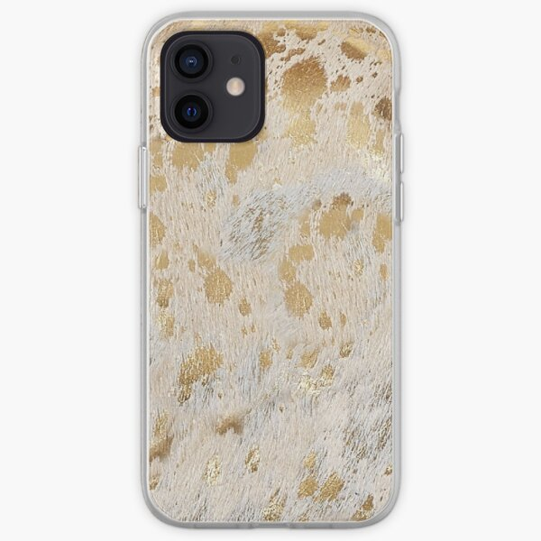 Gold Metallic Cowhide Print | Texture iPhone Soft Case