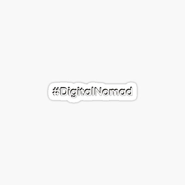 #DigitalNomad Pegatina