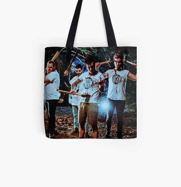 Large Iconic Retro Tote Bag Blue Tropical Fish Shoulder Bag UBU Republic