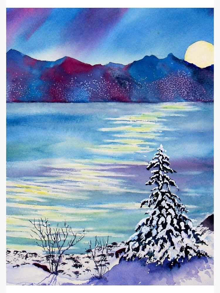 Tahoe Winter Moonlight Magic by stramer