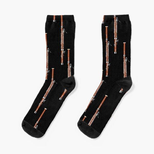 Bassoon on black Socks
