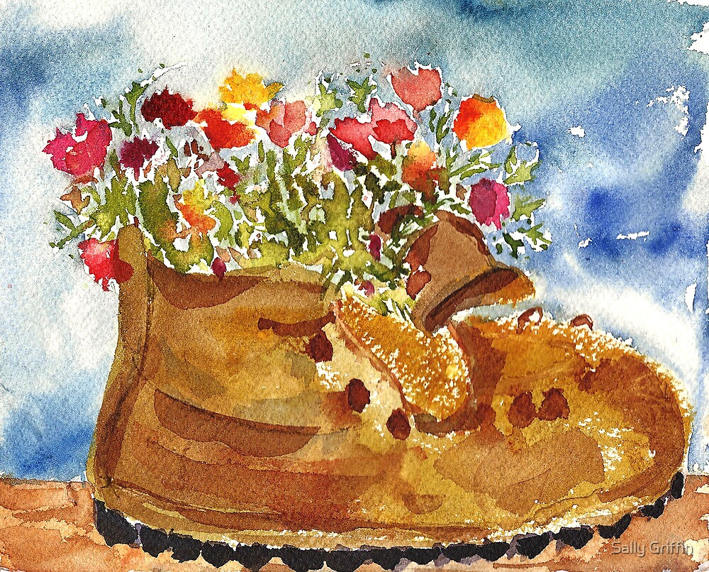 Retired Hiking Boot by Sally Griffin