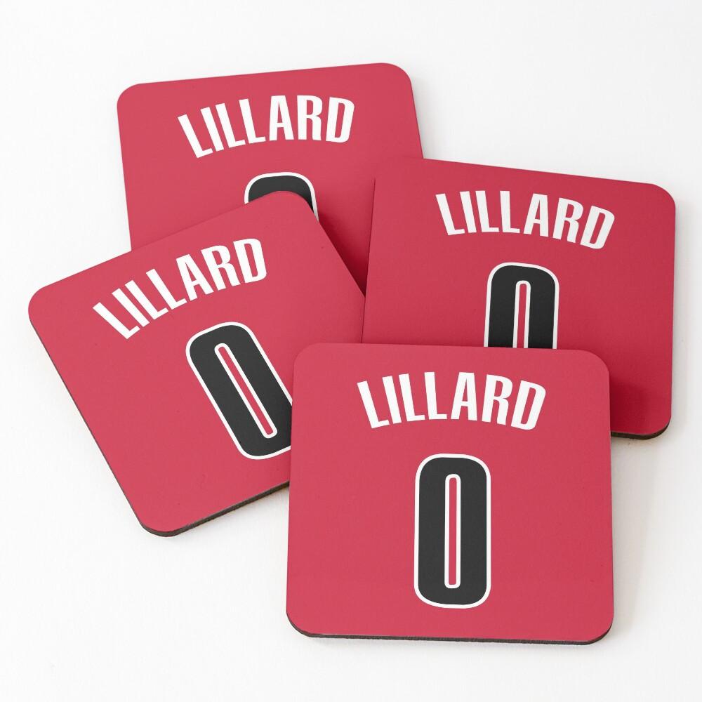 Damian Lillard Jersey Bag Coasters Set Of 4 By Csmall96 Redbubble