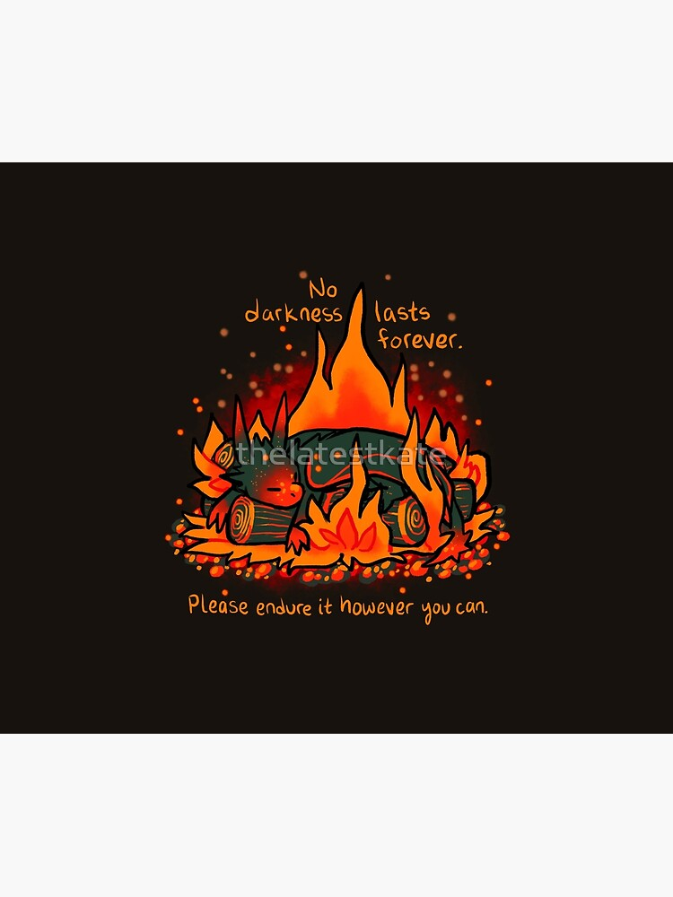 """""""No Darkness Lasts Forever"""" Campfire Dragon by thelatestkate"""