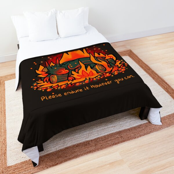 """""""No Darkness Lasts Forever"""" Campfire Dragon Comforter"""