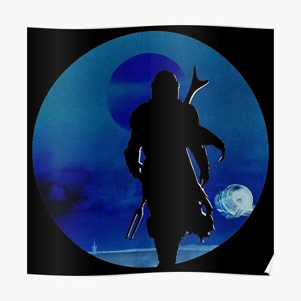 Mando Shadow Figure Poster