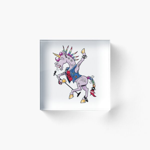 PUNK Unicorn Acrylic Block