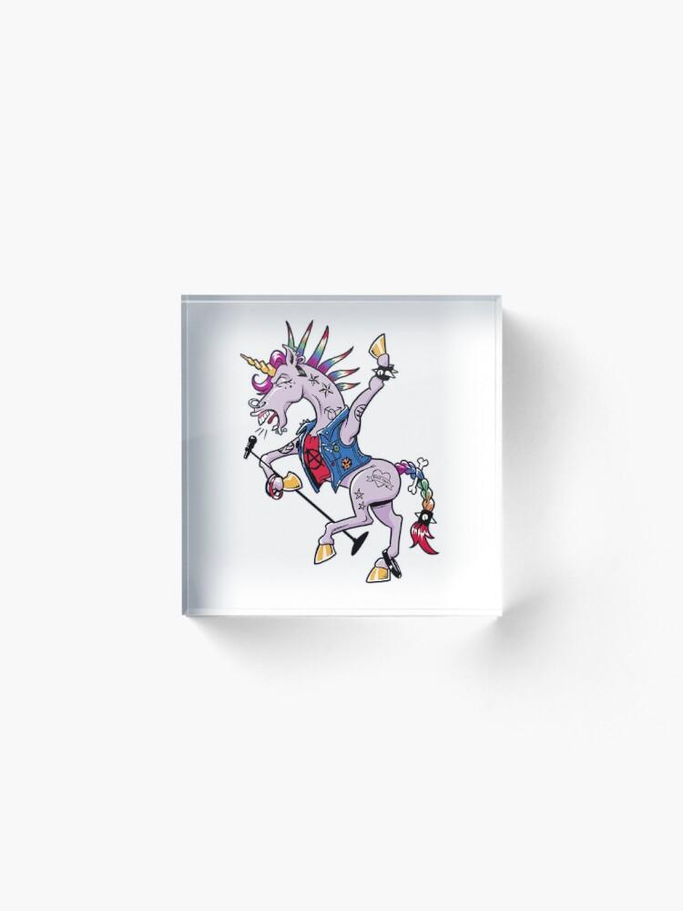 Alternate view of PUNK Unicorn Acrylic Block