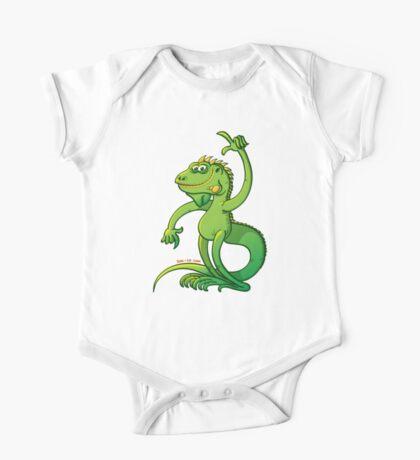 Green Iguana Giving an Idea Kids Clothes