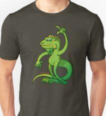 Green Iguana Giving an Idea Slim Fit T-Shirt