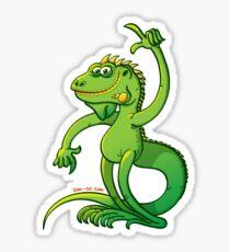 Green Iguana Giving an Idea Sticker