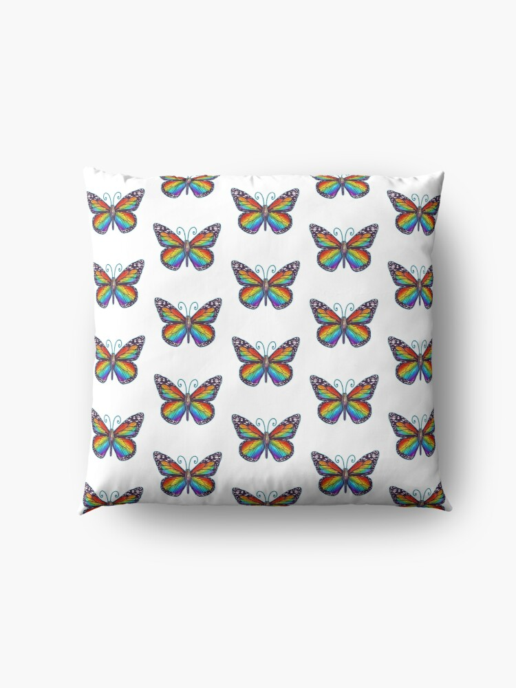 Alternate view of Rainbow Butterfly Floor Pillow