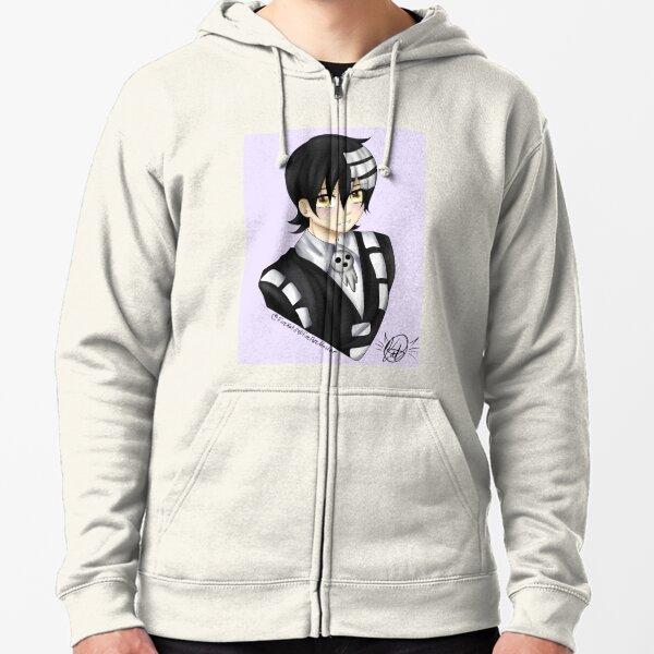 Soul Eater Zipper Hoodie Zip Hooded Sweatshirt Clothes Japanese Anime ソウルイーター