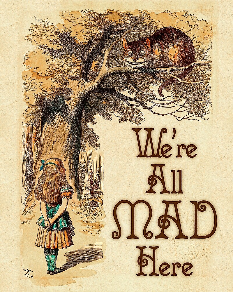 """""""Alice in Wonderland - We're All Mad Here - Mad Hatter"""