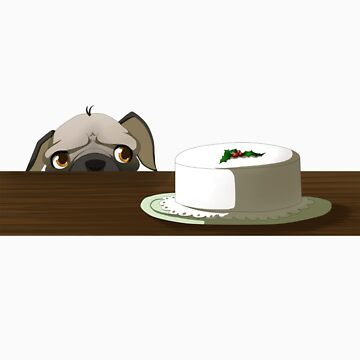 Pug with cake by Tunnelfrog