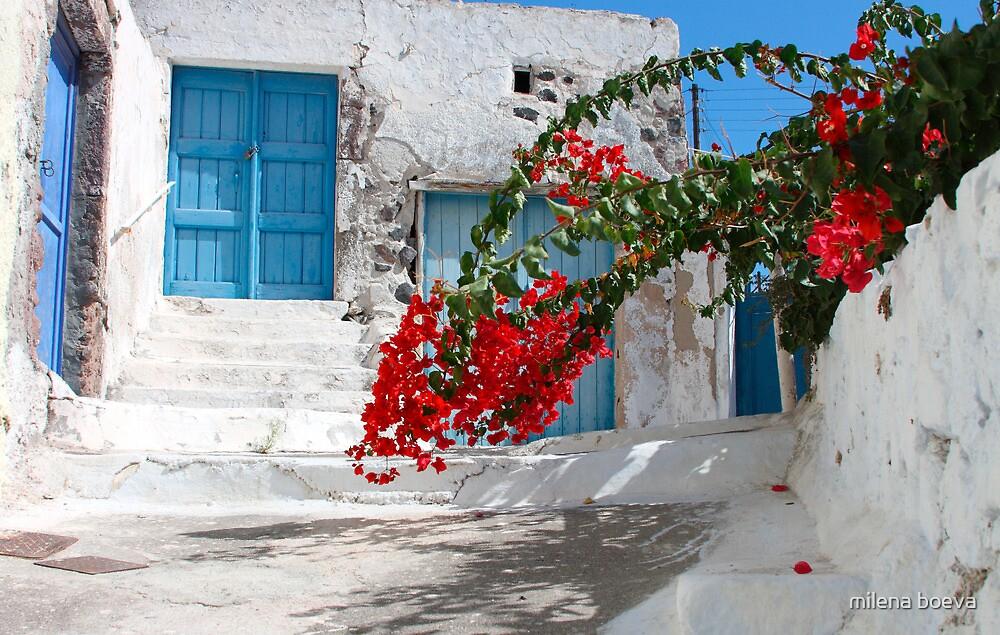 village in santorini,greece by milena boeva