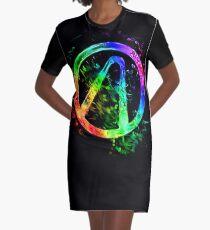 Rainbow Splash Vault Hunter Symbol Graphic T-Shirt Dress