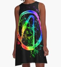 Rainbow Splash Vault Hunter Symbol A-Line Dress