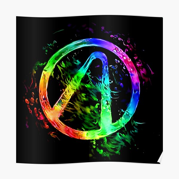 Rainbow Splash Vault Hunter Symbol Poster