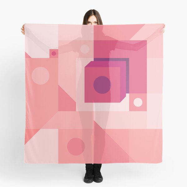 Squared Pink Scarf