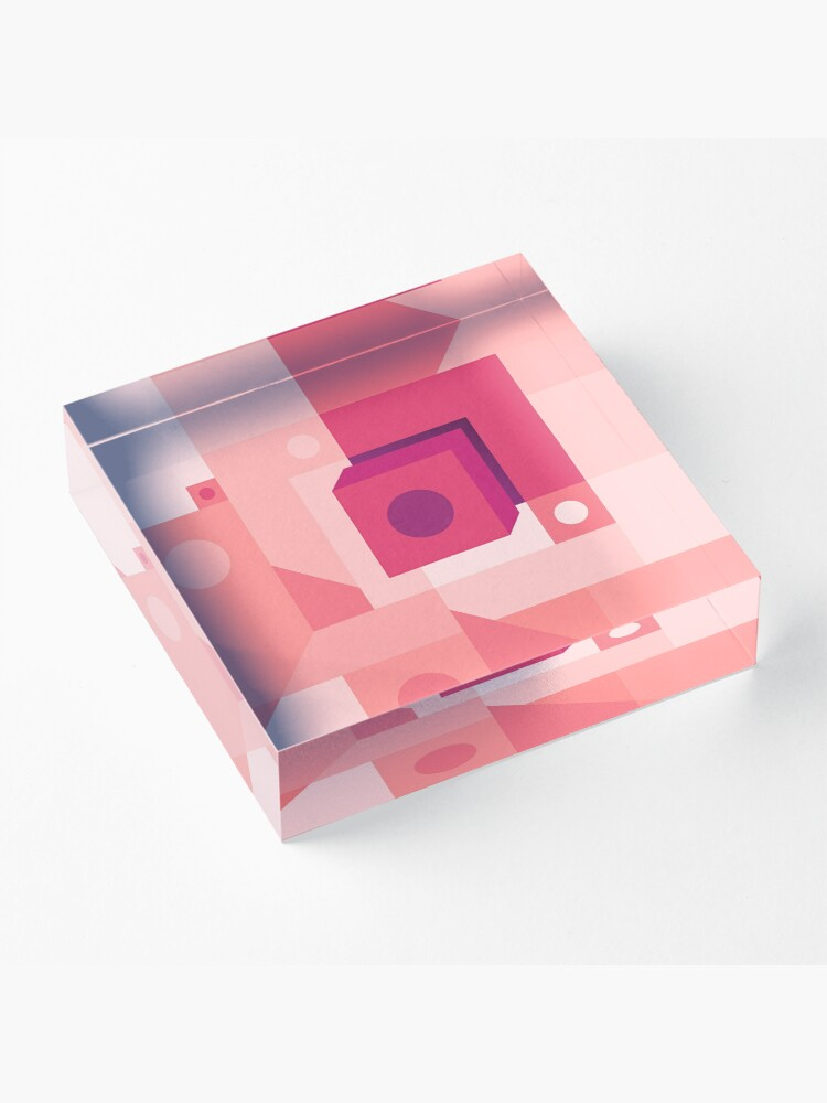 Alternate view of Squared Pink Acrylic Block