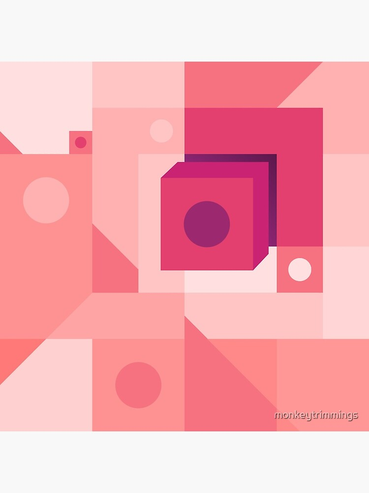 Squared Pink by monkeytrimmings