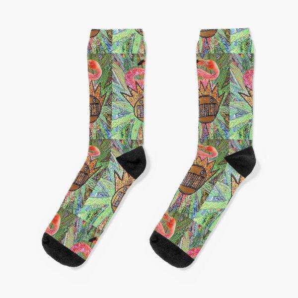 Ween Boognish and Flamingo Socks